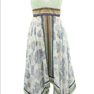 BCBGMaxazaria Floral Halter Dress